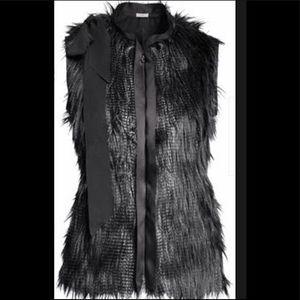 Lanvin x H&M Limited Edition Faux Fur Black Vest